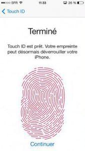 empreintes iPhone 15
