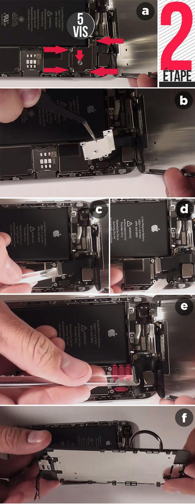 tutoriel_remplacement_flex_caméra_avant_capteur_proximité_micro_haut_iphone6_etape2
