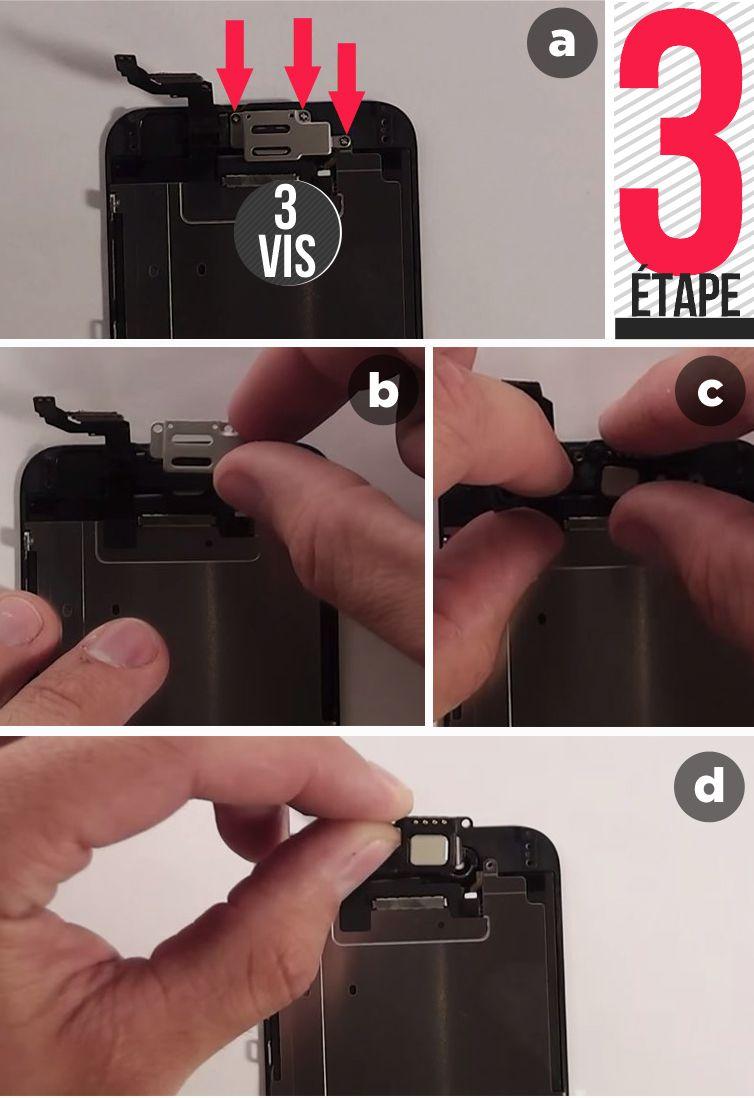 tutoriel_remplacement_flex_caméra_avant_capteur_proximité_micro_haut_iphone6_etape3