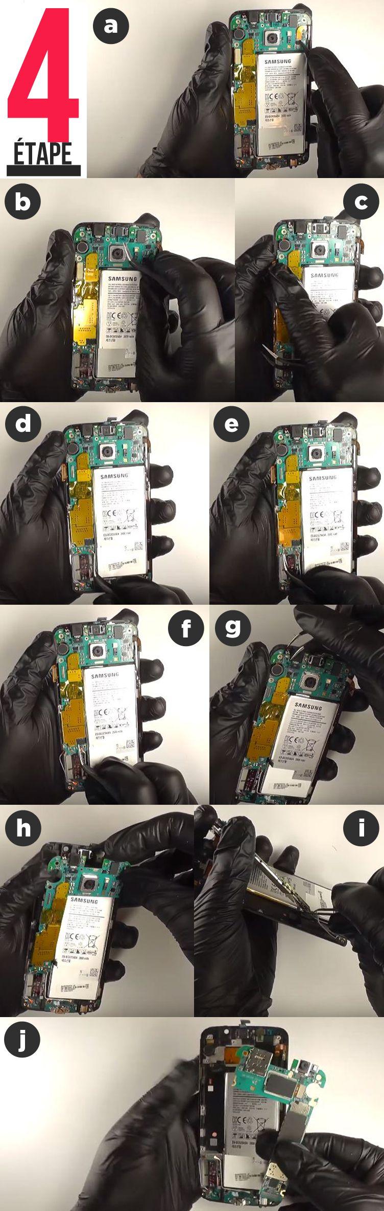 etape 4 Remplacement écran complet Samsung Galaxy S6 Edge dépose carte mère