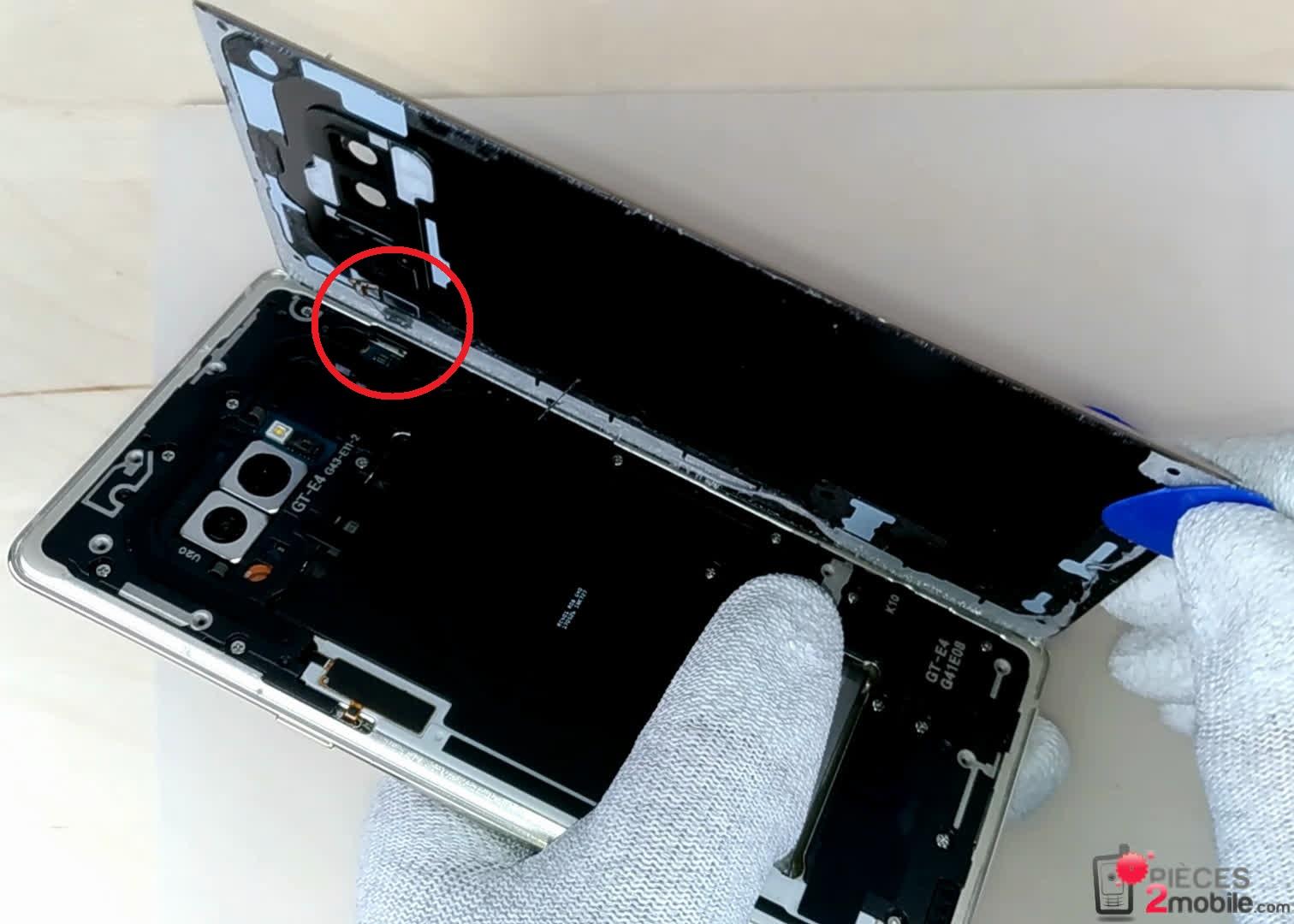 vitre arrière Note8