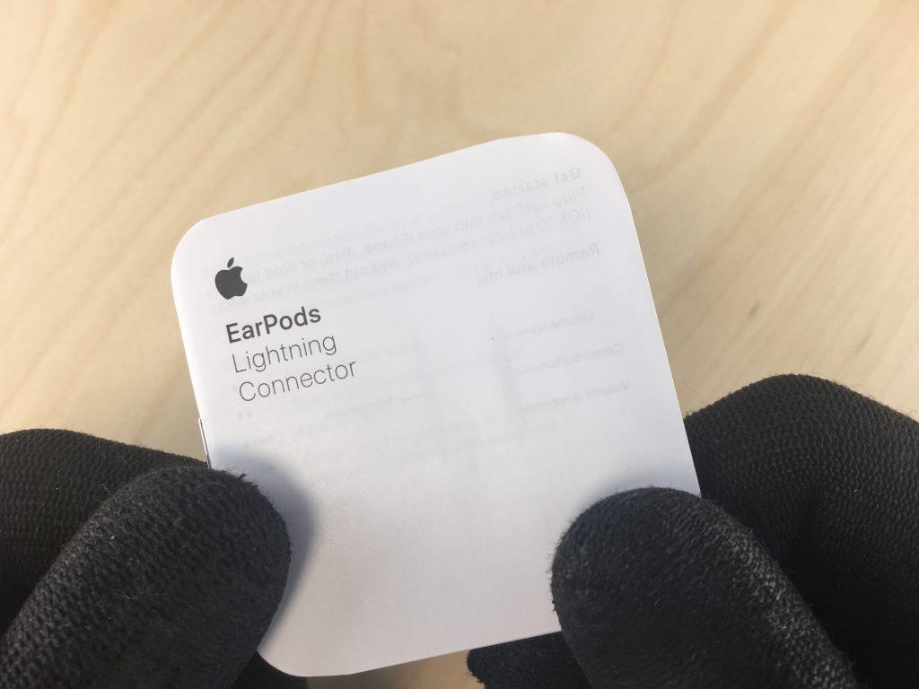 Reconnaître de faux écouteurs Apple Earpods Lightning en vérifiant la notice