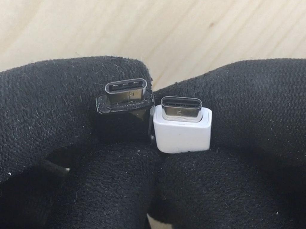 reconnaître un faux câble Samsung en notant les irrégularités