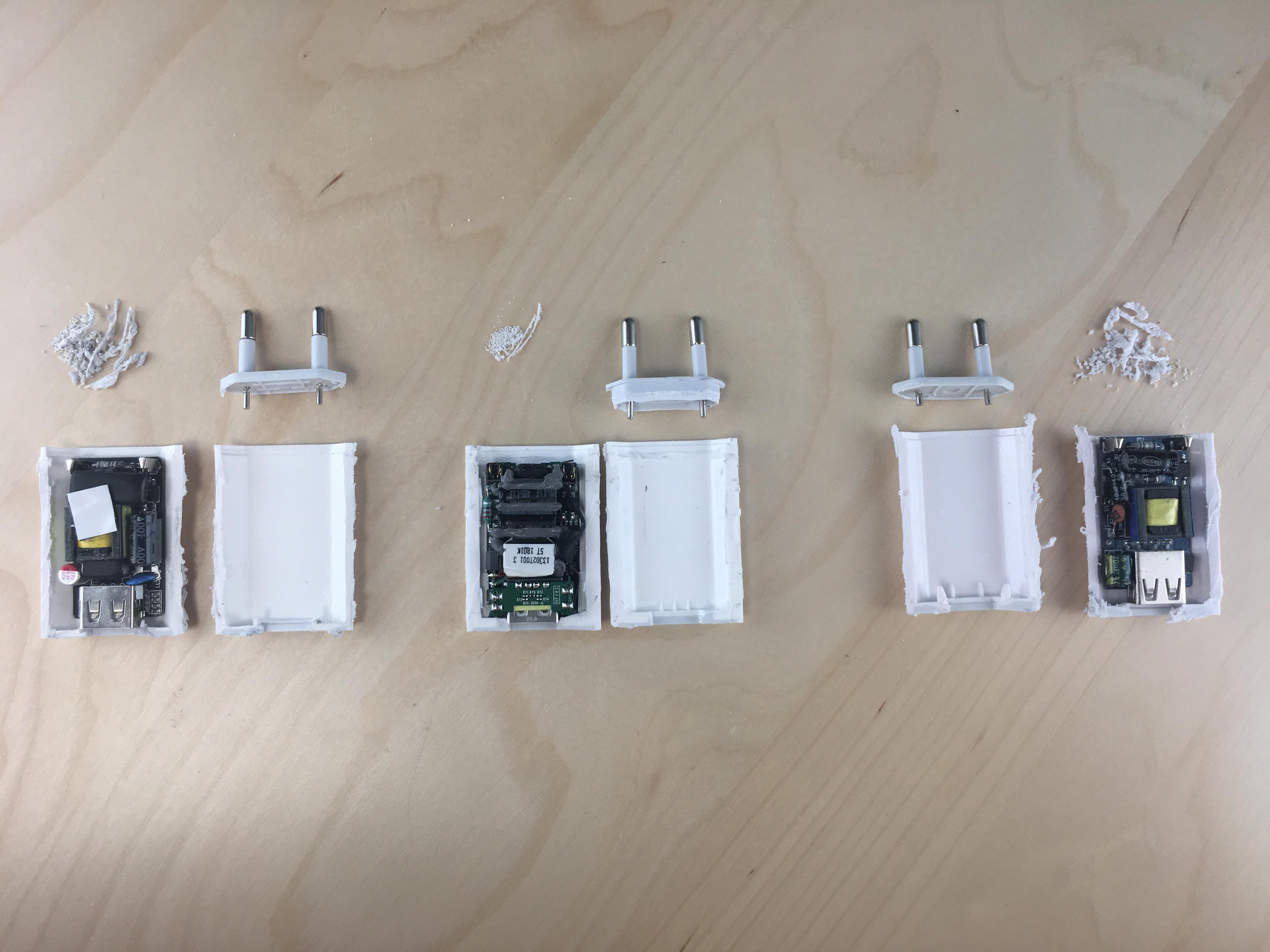 reconnaître un faux chargeur iPhone avec une vue éclatée