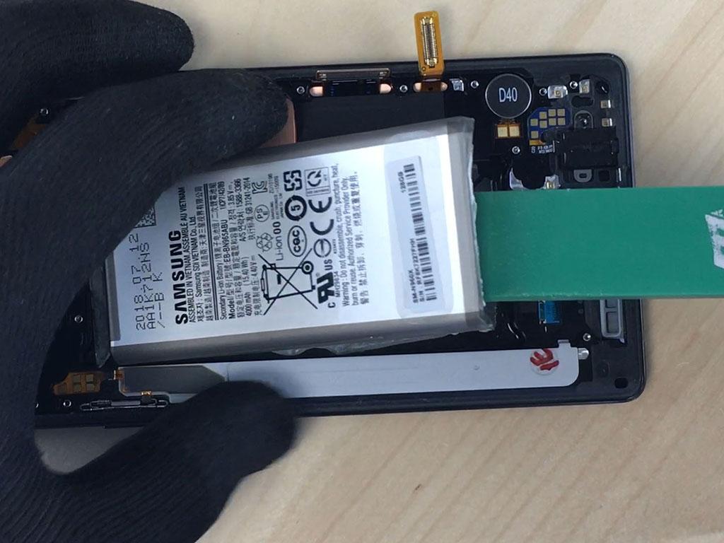 changer l'écran du Note 9 en enlevant la batterie
