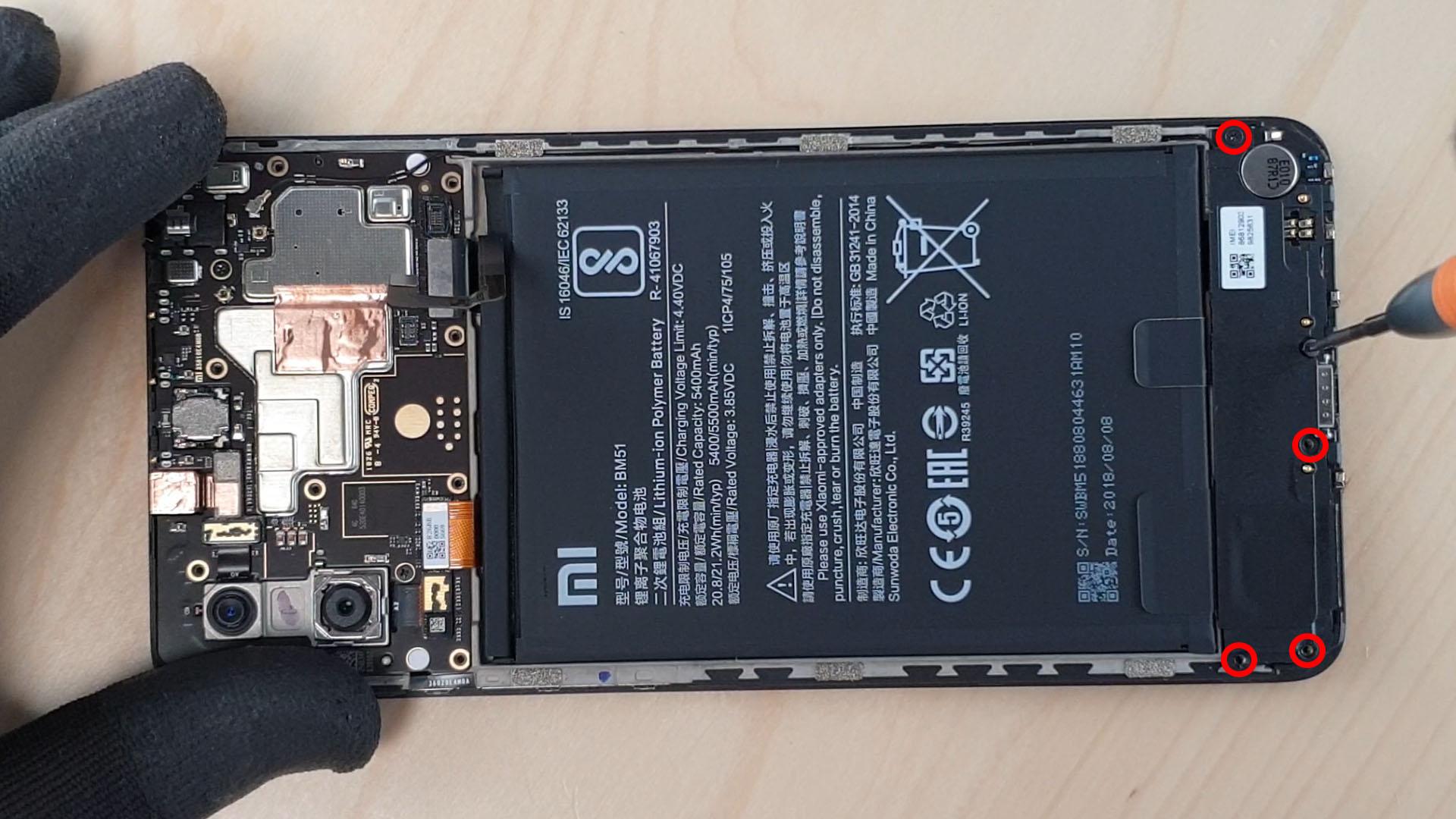 Obligé d'enlever le haut parleur pour acceder au languette autocolantes de la batterie du Mi max 3