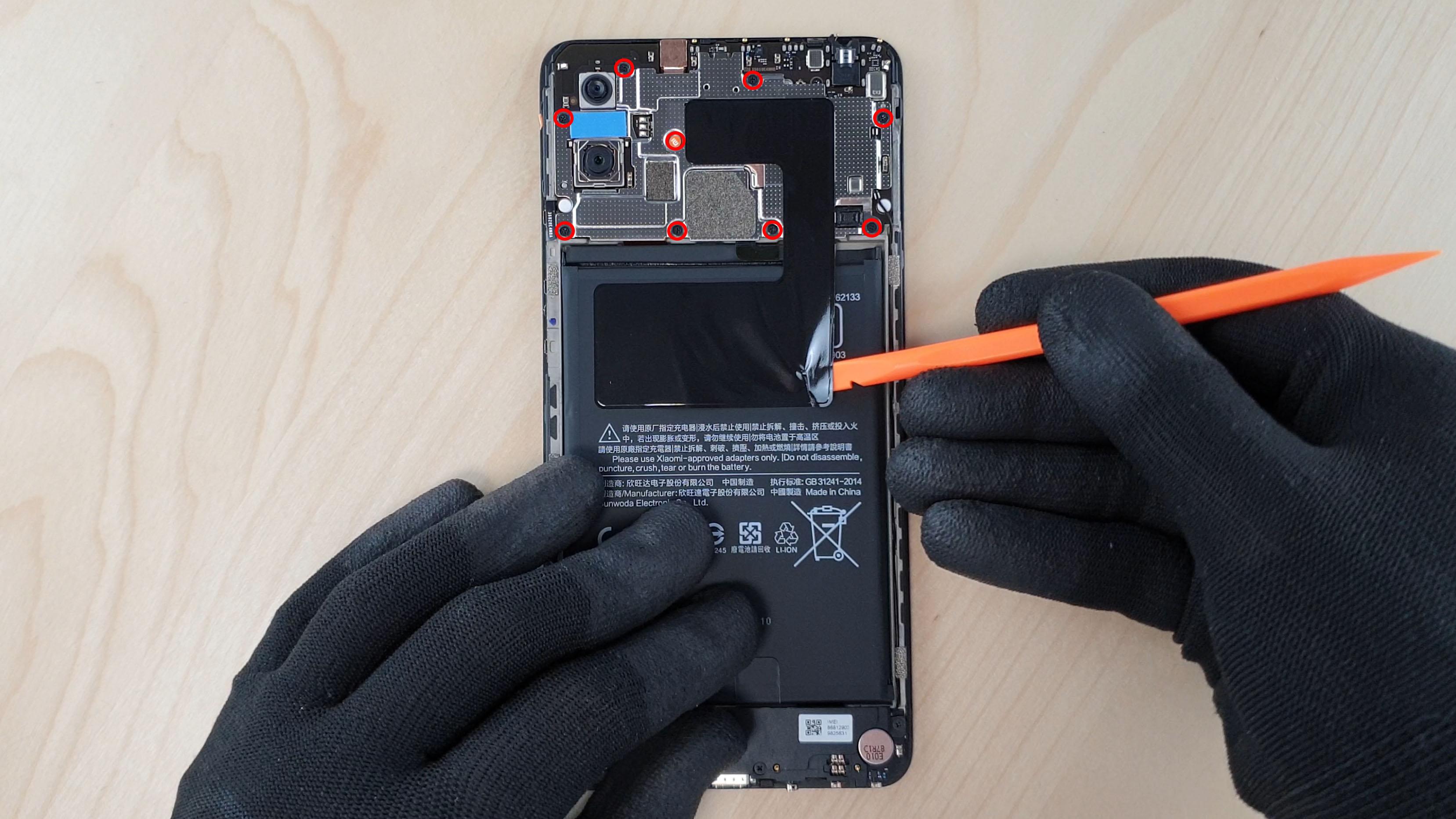 ce diffuseur de chaleur est placé juste au-dessus de la batterie du Mi Max 3