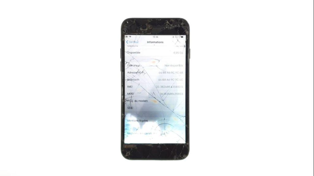 Iphone 7 probleme reseau et pas de numero de programme du modem