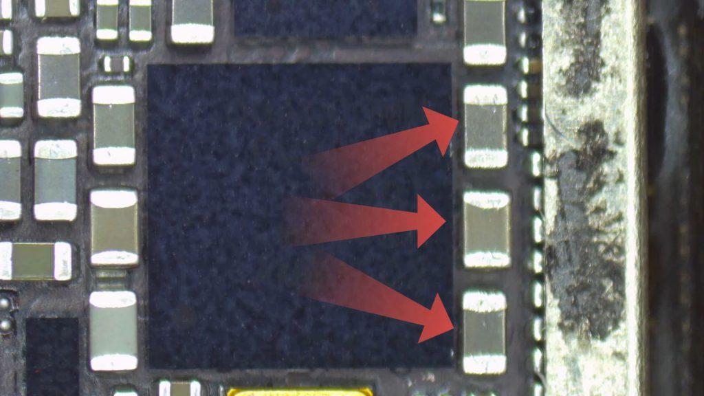 Iphone 7 probleme reseau et test du composant de la carte mere