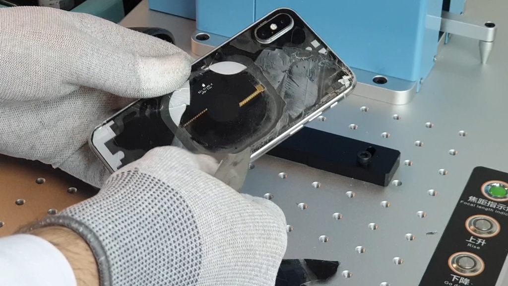 Sunshine SS-890b  un laser pour changer la vitre arrière iphone X