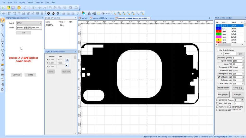 Sunshine SS-890b  un laser pour réparer un iPhone X exemple de schema